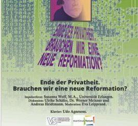 """Plakat """"Ende der Privatheit"""""""