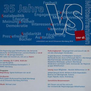 Jubiläum VS-Regionalgruppe Mittelfranken